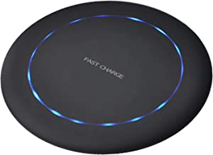 Wireless Charger Fast Ultra Slim 15W Qi-Certified Universal Wireless Charging Pad Compatible with iPhone 12/11,Samsung Galaxy S20/Note 10/S10/S9(No AC Adapter)