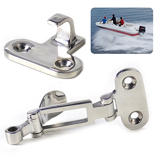 Stainless Steel Anti-Rattle Latch Marine Boat Locker Fastener Clamp Safety Hasp Catch Tool Parts