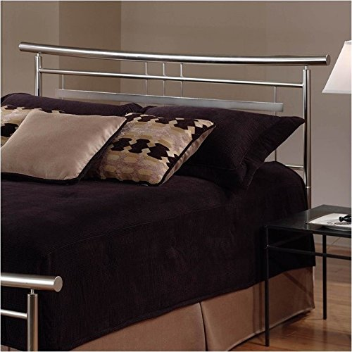 Nickel Metal Headboard (Hillsdale Soho Spindle Headboard in Nickel - Full/Queen)