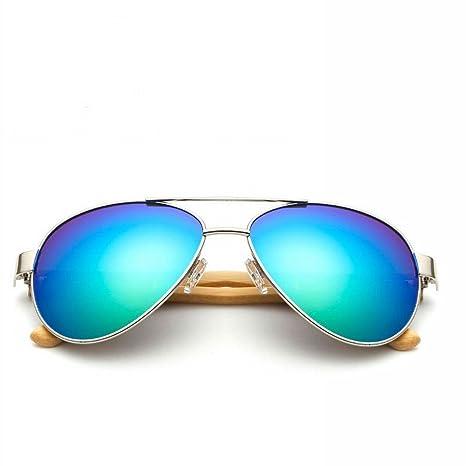 YL LY Gafas de Sol Hechas a Mano de Bambú Gafas de Bambú ...