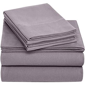 Pinzon Cotton Flannel Bed Sheet Set - Twin XL, Graphite