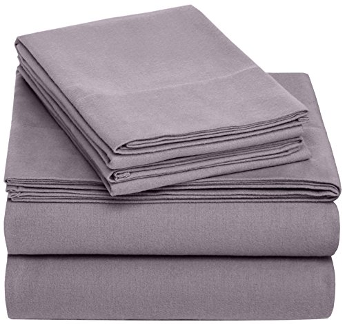 Pinzon Flannel Sheet Set  Twin XL, Graphite