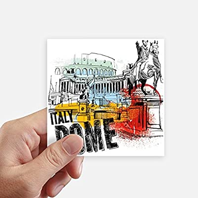 DIYthinker Italy Rome Landscape Roman Theater Square Stickers 10cm Wall Suitcase Laptop Motobike Decal 8pcs