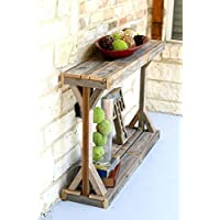 Natural Split Pedestal Console
