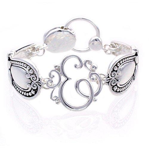cocojewelry Spoon Handle Style Monogram Initial Magnetic Closure Bracelet