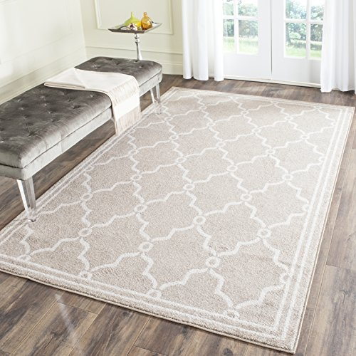 (Safavieh Amherst Collection AMT414S Wheat and Beige Indoor/ Outdoor Area Rug (4' x 6'))