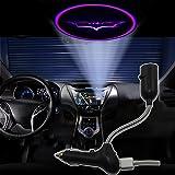 Spoya Cool purple bat Batman USB Car dome ceiling CREE LED cigarette lighter logo laser projector light lamp