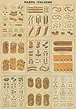 pasta italiana print - Laminated Pasta Italiana - Vintage Style Pasta Collage Poster 20 x 28in