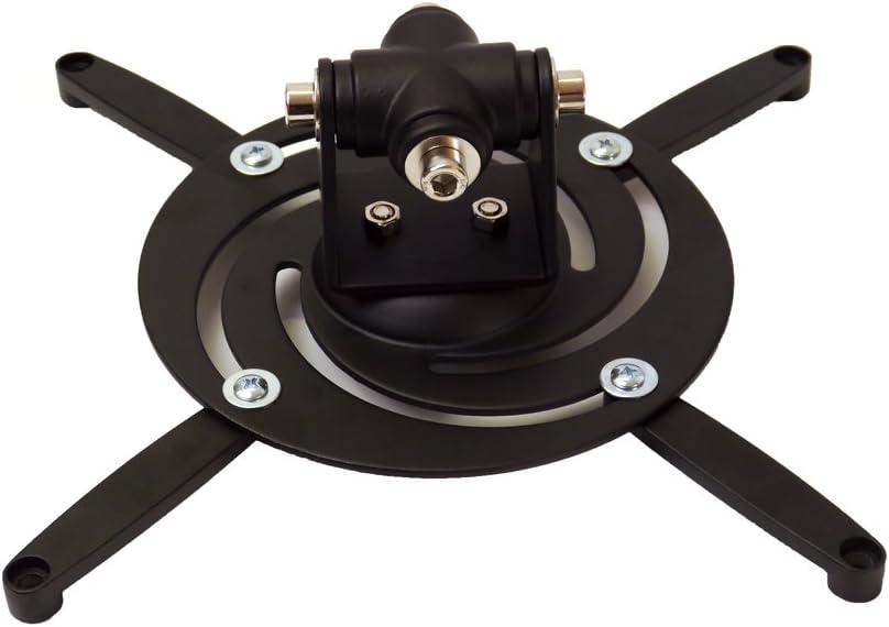 Support Plafond pour Vid/éo-projecteur 310mm noir rotatif et inclinable /à 25/° PureMounts PM-Spider-Plus-B Distances des Trous de Vis 180 Distance au Plafond fixe /à 22cm 15kg