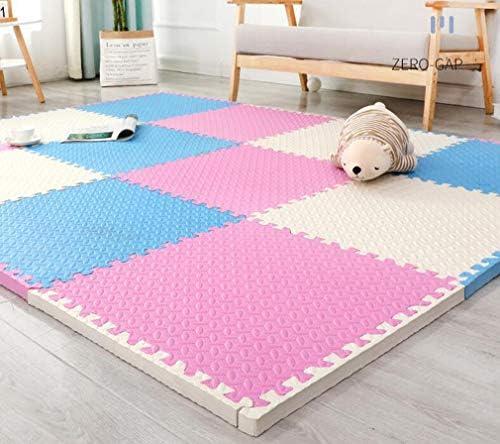Puzzle Oefening Mat, 20 tegels Interlocking Foam Gym Mats, 30 * 30 cm Eva Foam vloertegels voor fitnessapparatuur,Pink