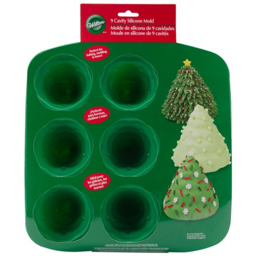amazoncom wilton 3d silicone 9 cavity tree mold candy making molds kitchen dining