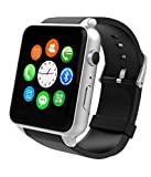 Micromax Canvas Fantabulet Compatible Certified Bluetooth Smart Watch GT08 Wrist Watch Phone with Camera & SIM Card Support Hot Fashion New Arrival Best Selling Premium Quality Lowest Price with Apps like Facebook, Whatsapp, QQ, WeChat, Twitter, Time Schedule, Read Message or News, Sports, Health, Pedometer, Sedentary Remind & Sleep Monitoring, Better Display, Loud Speaker, Microphone, Touch Screen, Multi-Language, Compatible with Android iOS Mobile Tablet PC iPhone-black by VELL- TECH