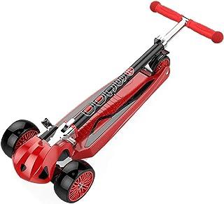 trotinette Enfant Scooter pour Enfants de 6 Ans, 3 Grandes Planches de Scooter pour Adultes, Alliage d'aluminium