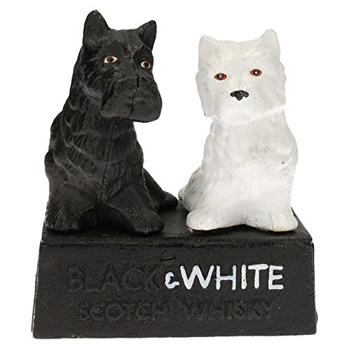 AB Tools Black & White Buchanan's Scotch Whisky Whiskey Scottie Dog Figurine Statue
