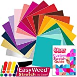 SISER EasyWeed Heat Transfer Shirt Vinyl EVERY Easyweed Stretch Color Bundle, 12 Inch x 15 Inch with Siser Custom Swatch Book