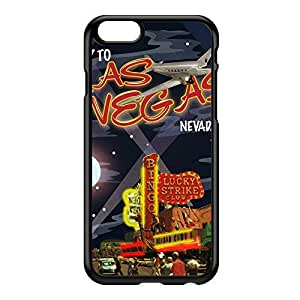 Las Vegas Black Hard Plastic Case for iPhone 6 by Nick Greenaway + FREE Crystal Clear Screen Protector