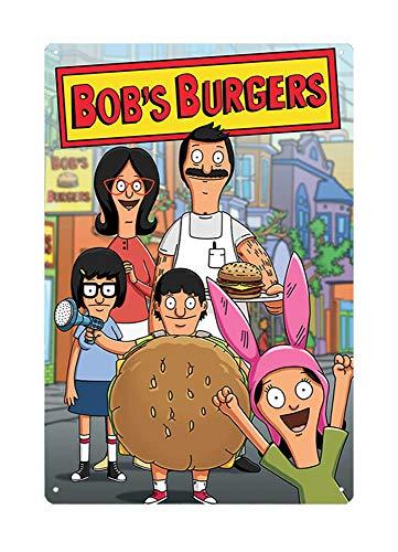 - WholesaleSarong Bob's Burgers Cartoon Movie Metal tin Sign Garage Clock Garden Outdoor Living Room Wall Art