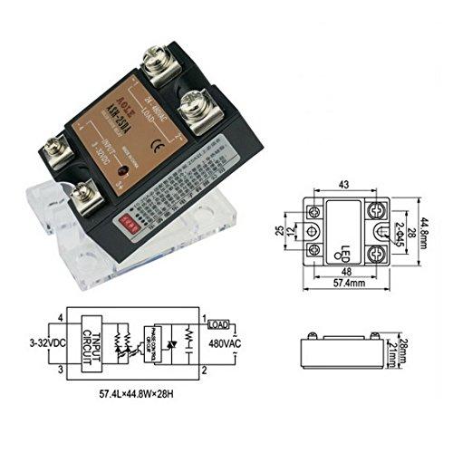 3PCS SSR-25AA Solid State Relay 3PCS Heatsink Input 80-280VAC Output 24-380VAC Machinery Control by Beauty Star SSR Solid State Relay with Heat Sink