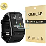 Garmin vivoactive HR Screen Protector [2 Pack], KIMILAR Tempered Glass Screen Protector for Garmin Vivoactive HR Ultra High Definition Invisible and Anti-Bubble Crystal Shield -with Free Replacement Warranty