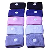 Letool 5 Pairs Anti-Nausea Wristbands Morning Motion Travel Sickness Wristband for Car Flying Pregnancy Sea Trips