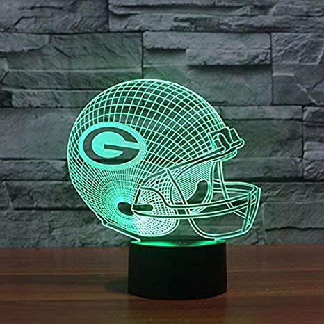 Green Bay Packers lámpara de mesa LED Neon Cartel nuevo 3d ...