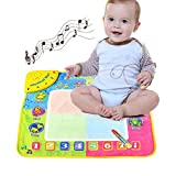 Hisoul Kids Water Doodle Mat, 19.49'x19.29' Music Piano Piano Keys Spread Melody Music Blanket with...