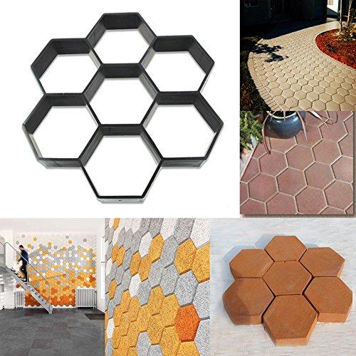 Cheap  Hexagon Path Maker Mould. Reusable DIY Paving Concrete Stepping Stone Cement Slabs..
