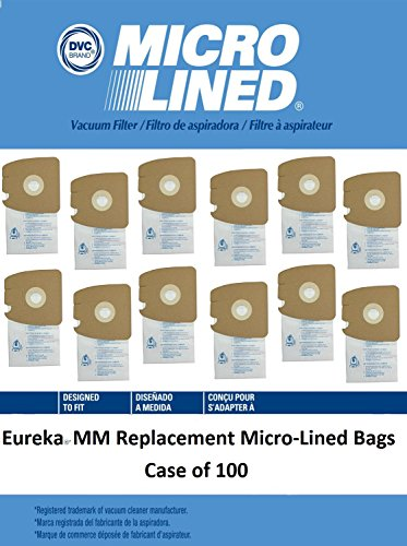 DVC Created Eureka MM MicroLined Vacuum Cleaner Bags. Case of 100 by DVC Micro-Lined