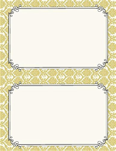 Gold Damask Print at Home Invitation Kit ()