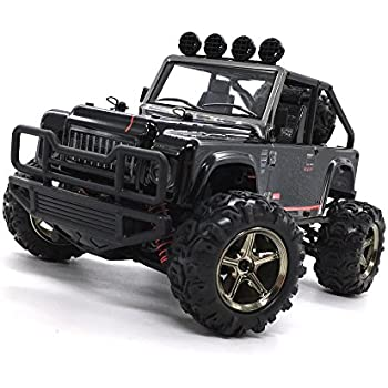 Off Road RC Car, Zerospace Keliwow 4WD RC Jeep 1/22 Scale 25MPH Fast Racing Car 4x4 All Terrain Buggy Remote Control Vehicle with LED Lights RTR, Black