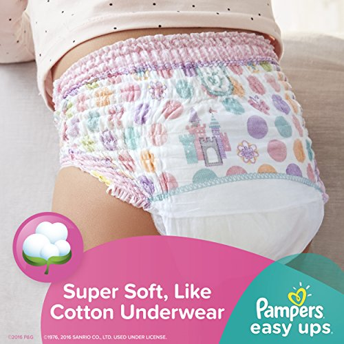 Large Product Image of Pampers Easy Ups Training Pants Pull On Disposable Diapers for Girls Size 5 (3T-4T), 72 Count, SUPER