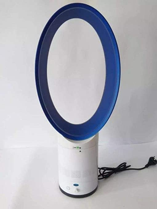 YMJLX Ventiladores De Torre,Purificación De Aire Ventilador Sin Hojas Ventilador del Piso del Hogar Purificador De Aire Silencioso Regalo De 14 Pulgadas @ Azul: Amazon.es: Hogar