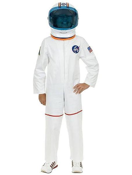 Amazon.com: Kid s Color Blanco Astronauta NASA disfraz de ...