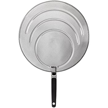 'OXO Good Grips Stainless Steel Splatter Screen with Folding Handle' from the web at 'https://images-na.ssl-images-amazon.com/images/I/51IMn09yYiL._SL500_AC_SS350_.jpg'