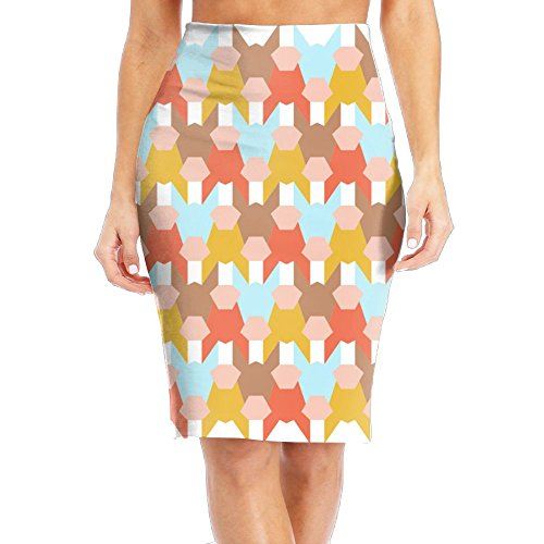 SHZFS Luc Geometry Donkey Lady Funky Pencil Skirt Mini Skirt Funky Bedskirt