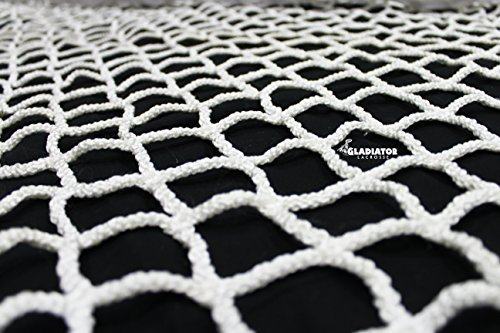 6mm Heavy Duty Replacement Lacrosse Goal Net 6'x6' for Professional Goals - Gladiator Collegiate Level