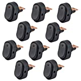 AutoEC 30 Amp 12 Volt Red LED ON-OFF Rocker Switch Toggle Triangle Plug Switch For Car Motorcycle Boat Marine 10-pack