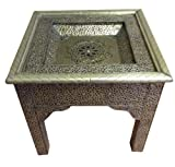 Moroccan Embossed Metal Decorative Showcase Arabic Table Review