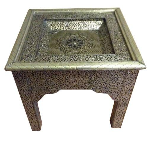 Marroquí en Relieve Metal Decorativo Showcase árabe Mesa: Amazon ...