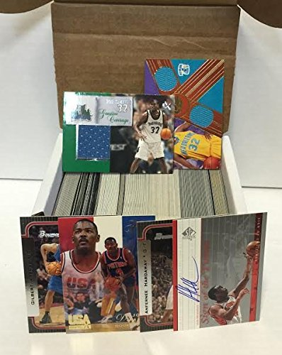 NBA Basketball Card Box 300+ Cards & 3 Relic Autograph or Jersey Per Box - Includes 3 Random Relic, Jersey or Autograph Cards & 1 Sealed Pack. - Look for NBA Rookies, Stars & NBA Hall-of-Famers