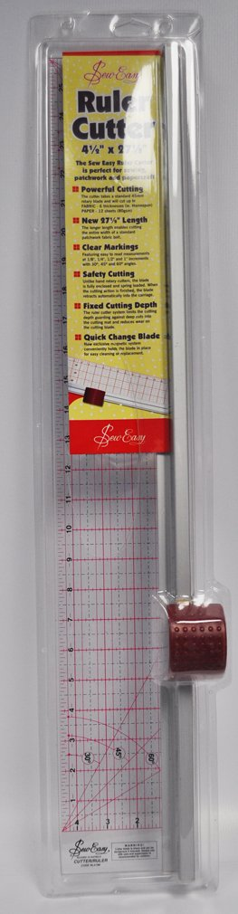 Sew Easy Quilt Ruller Cutter 4 1/2 Inches x 27 1/2 Inches ER4186 by Sew Easy