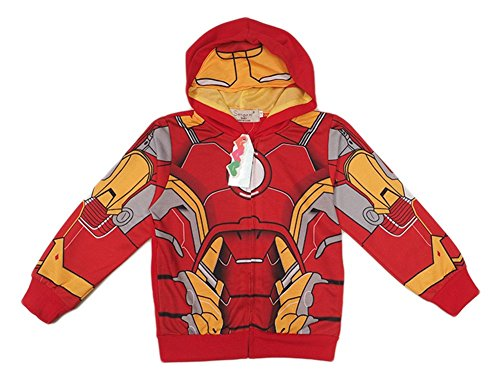 [StylesILove Super Heroes Costume Zipper Hoodie Jacket (3-4 years, Iron Man)] (Iron Man 3 Costumes Kids)