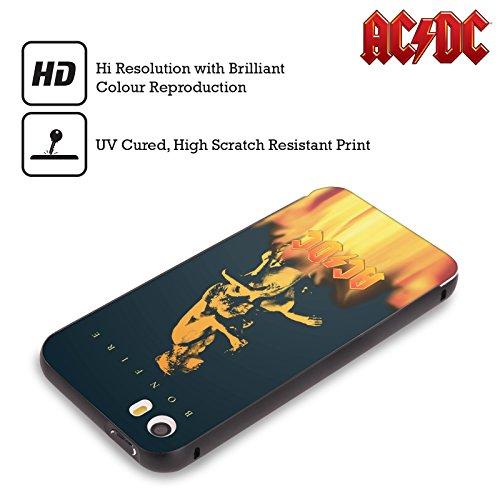 Officiel AC/DC ACDC Feu De Joie Art D'album Noir Étui Coque Aluminium Bumper Slider pour Apple iPhone 6 Plus / 6s Plus