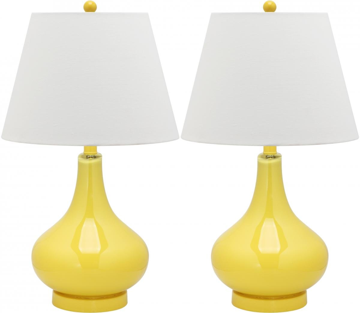 Incroyable Amazon.com: Safavieh Lighting Collection Amy Gourd Glass Table Lamp, Yellow,  Set Of 2: Home U0026 Kitchen