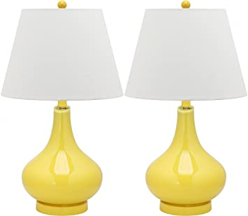 Amazon Com Safavieh Lighting Collection Amy Gourd Glass Table Lamp