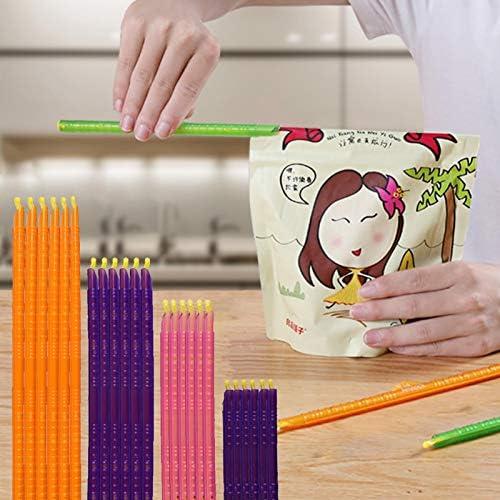 WUSHUN 24 stuks sluitclips zakclips bijgewerkte snacks zak sluiting klemmen zakklemmen sluitclips houden zakken luchtdicht waterdicht levensmiddelen vers
