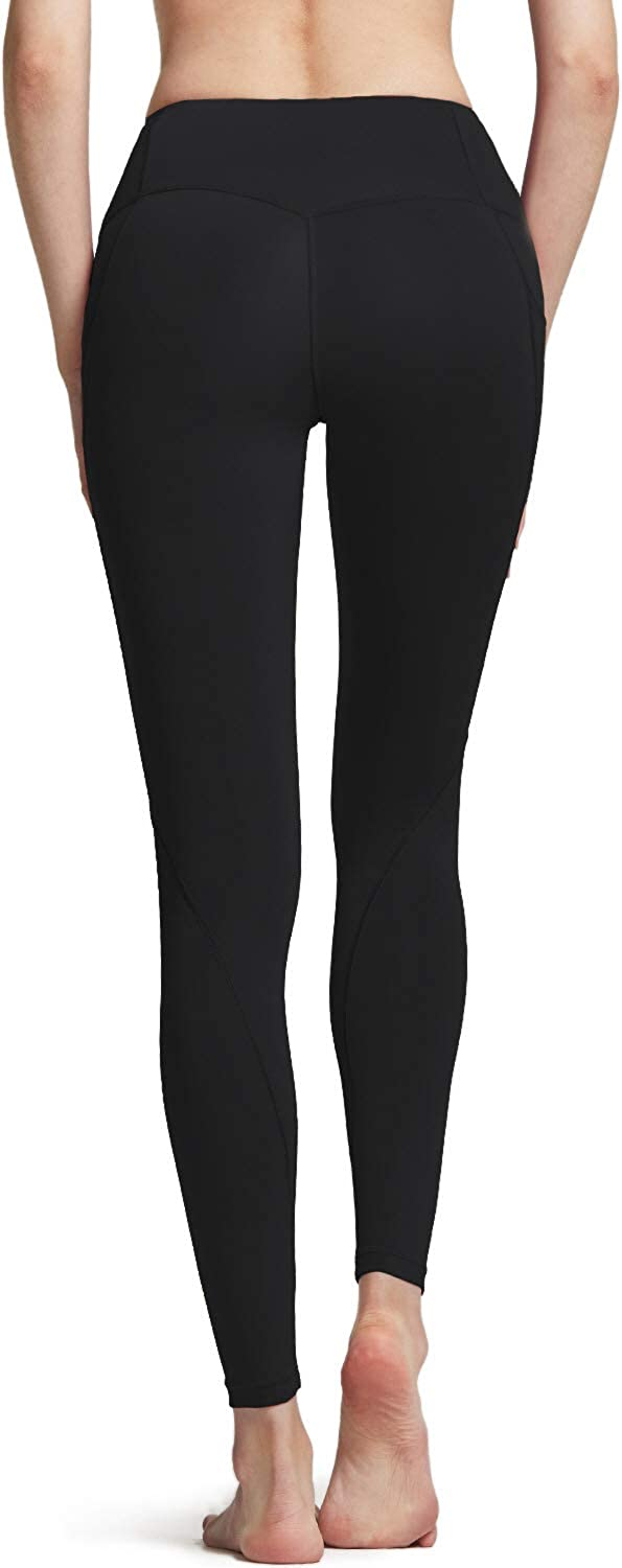 Tummy Control Yoga Leggings - Black//Black//Black A1 Pocket 3pack 4 Way Stretch Non See-Through Workout Running Tights Small ATHLIO High Waist Yoga Pants with Pockets ylp38