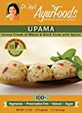 Dr. Jay's Ayurfoods Upama 6 Pack - Premium Comfort Food, FREE of Preservatives, BEST All Natural Ingredients, Vegan, Vegetarian, non-GMO, Ayurvedic, Upma, Ready to Eat in 5 Minutes
