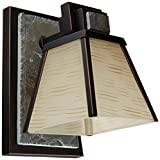 Kenroy Home 91601ORB Clean Slate 1-Light Sconce, Oil Rubbed Bronze with Natural Slate