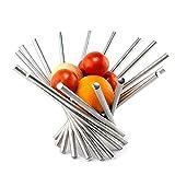 HSRG Plate Fruit Bowl Stainless Steel Rotation Fruit Basket/Fruit Stand/Fruit Holder, Silver(Size:34Cm13Cm)